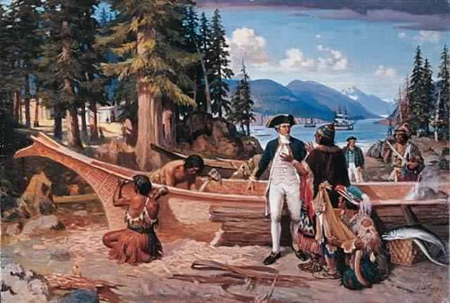 Captain James Cook Claims Vancouver Island for Britain
