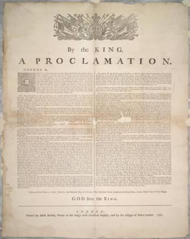 Royal Proclaimation