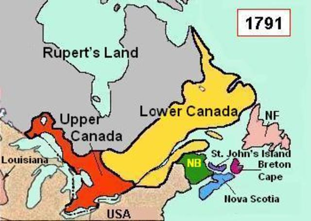 Formation of Upper and Lower Canada