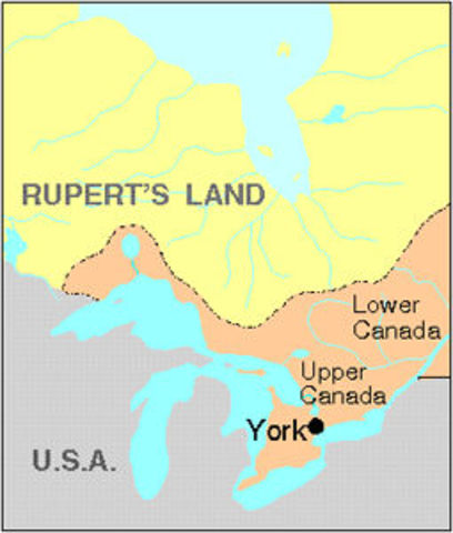 York Becomes Capital of Upper Canada