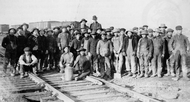Chinese Labourers Hired to Build Canadian Pacific Railway