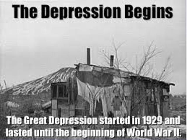 The Great Depression begins.