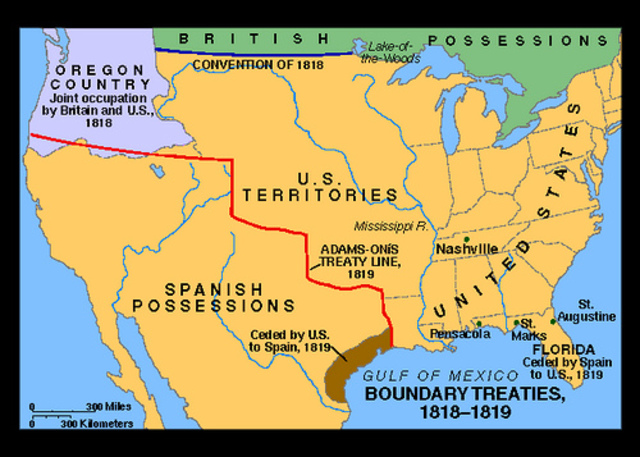 Border defined between U.S and Canada
