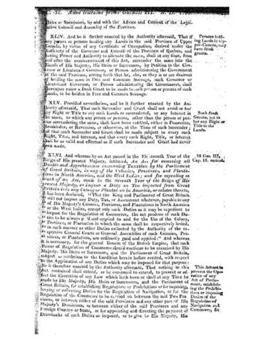 Constitutional Act of 1791