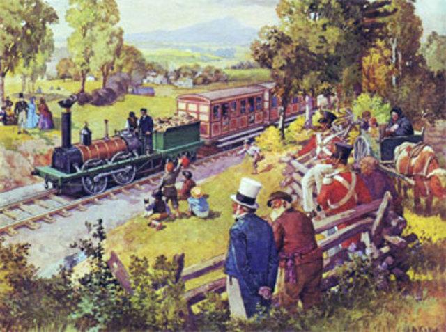 Railway from St John, Quebec to La Prairie, Quebec