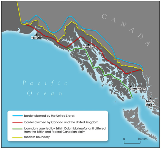{Notable Events} - loses of Alaska boundary dispute