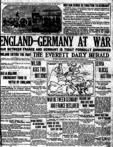 {Notable Events} - WWI