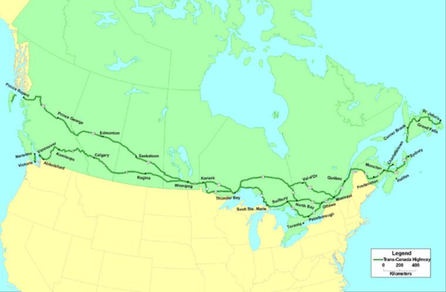 {Notable Events} - Trans-Canada Highway