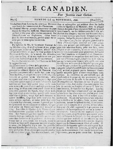 {Documents Acts & Treaties} - Le Canadien