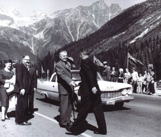 The Trans- Canada Highway opens