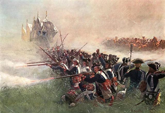 Les francais reussissent a tenir tete aux attaques britanniques.