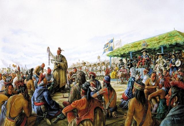 Les dirigeants de la nouvelle france ont rencontré 1300 representants de plus de 40 peuples autochtones.