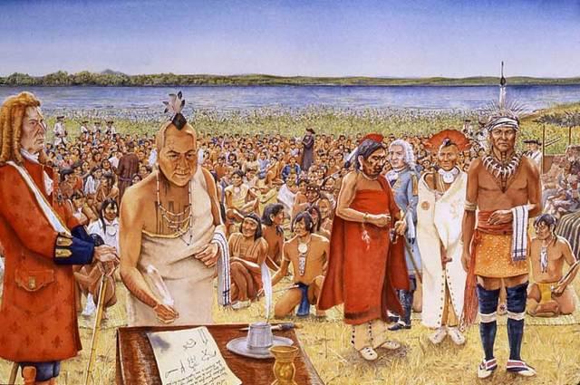 Le traité était signer le 4 août 1701 après deux semaines de pourparlers.