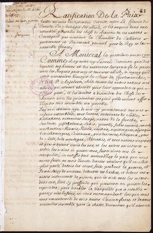 Ce traite signifie que les autochtones n'aideraient pas les anglais et que les autochtones aidèrent les francais avec le commerce des fourrures.