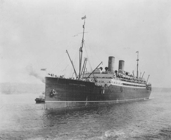 Sinking of the Canadian Pacific Ship