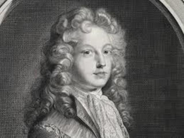 Le 13 mai 1702, le roi du France Louis XIV, place donc son petit-fils Philippe, duc d'Anjou, sur le trône d'Espagne.