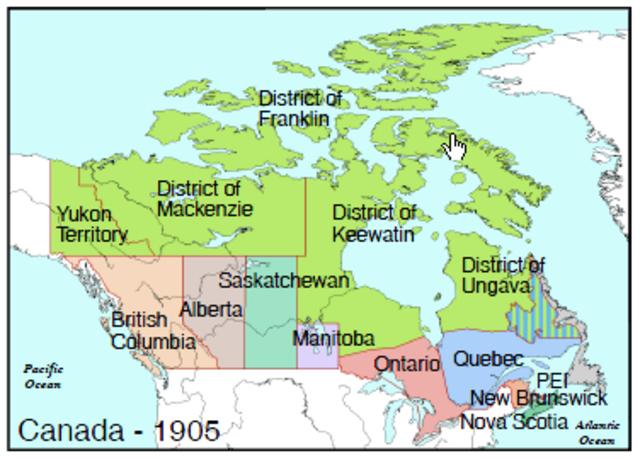 Formation of Alberta and Saskatchewan