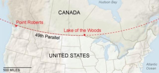 Canadian Border Defined
