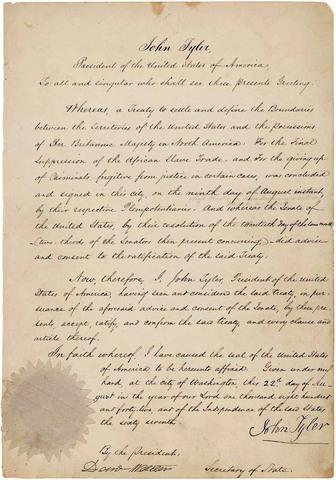 Webster-Ashburton Treaty- Historical Significane