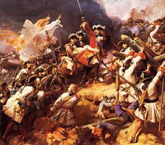 La guerre de Succession d'Espagne dure environ 12 ans et en 1713 la France déclare forfait.