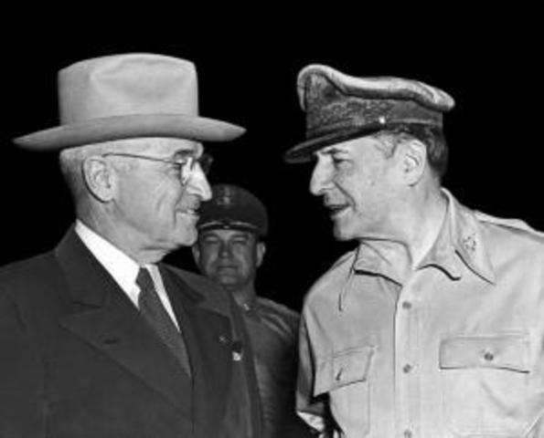 General MacArthur gets fired