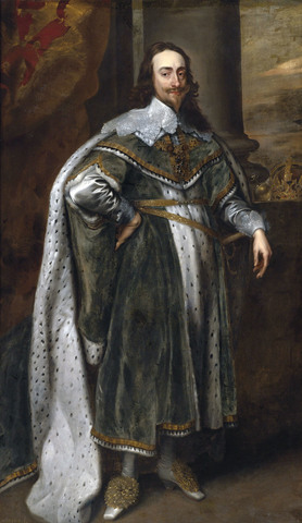 Charles I takes the throne of England