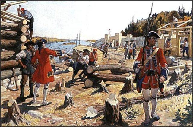En 1749 les Britanniques construit leur propre fort, Halifax.