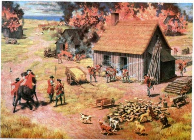 En 1763 près de 10 000 Acadiens sont chassés de leurs terres.