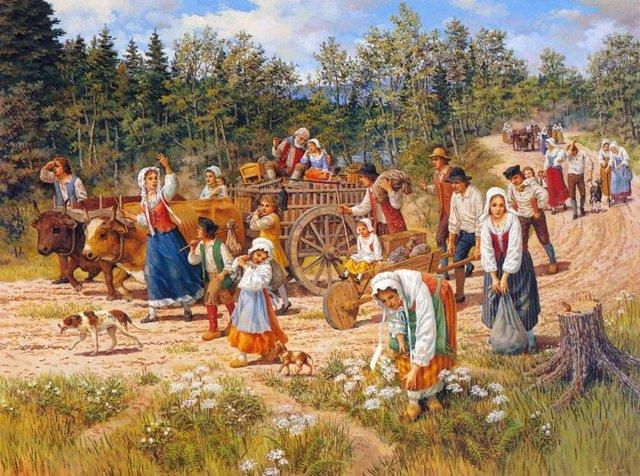 Seulment 165 familles Acadiens restait en Acadie en 1763