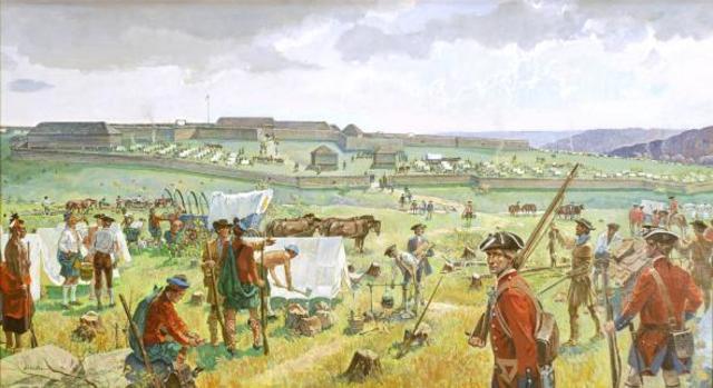 Quelques mois plus tard les Britanniques prends controle du fort Duquesne dans la vallée d'Ohio. Les Britanniques change le nom de fort Duquesne à fort Pitt.