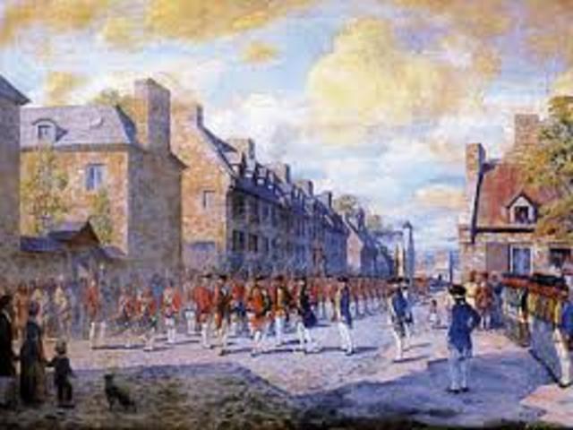 Après que les Britanniques avaient prit la Québec les Francais sont allés à Montréal qui était la prochaine place ou les Britanniques attaquent.