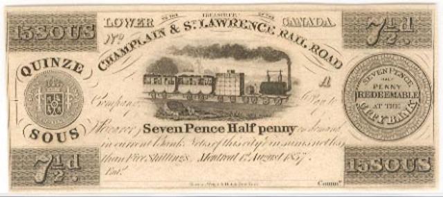 First Railway in Canada Opens - NE