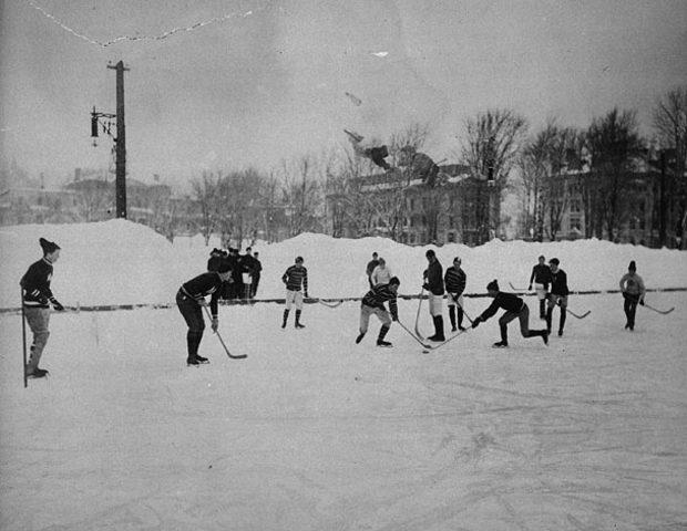 First Organized Hockey Games - NE