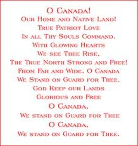 Robert Stanley Weir Writes O' Canada  - DAT