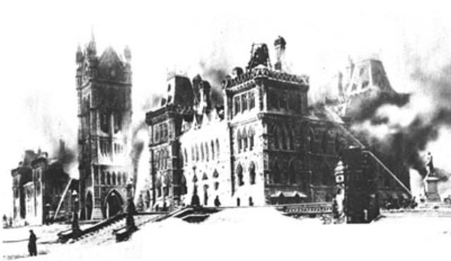 Parliament Buildings in Ottawa Catch Fire - NE