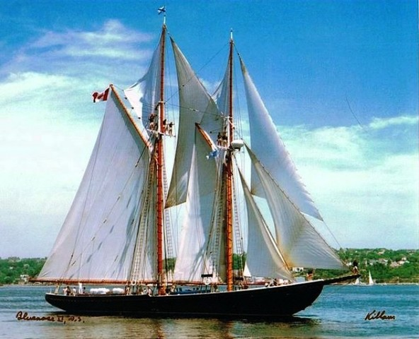 The Bluenose is Launched - NE