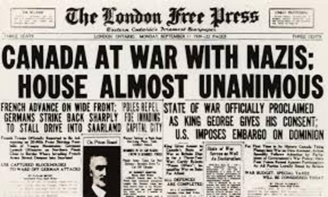 Canada Declares War on Germany - WB