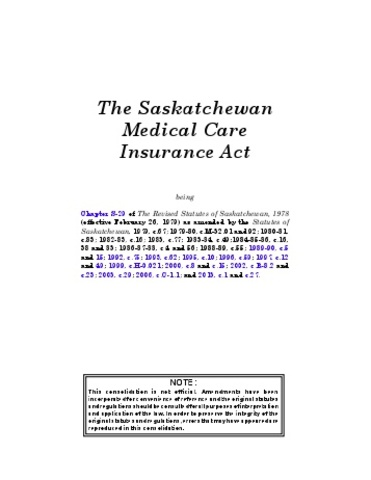 Medical Care Insurance Act - DAT