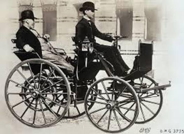 First Four Wheeled Car