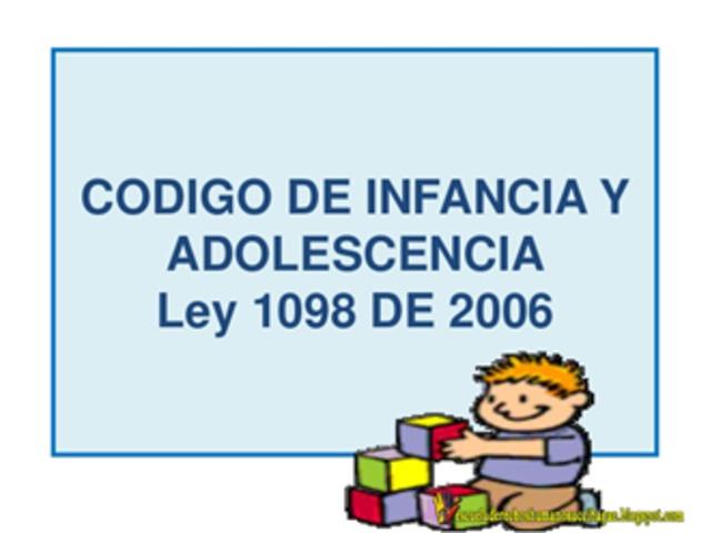 LEY 1098 CÓDIGO DE INFANCIA Y ADOLESCENCIA