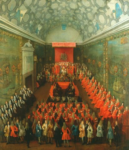 Oliver Cromwell abolishes monarchy and the House of Lords