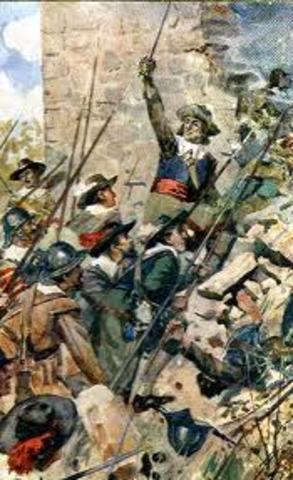 Cromwell and his army crush an uprising in Ireland