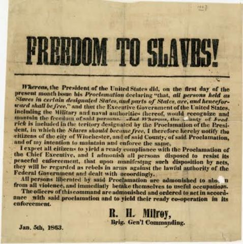 Signing of the Emancipation Proclamation