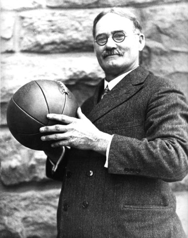 James Naismith, a physical education instructor at the YMCA Training College in Springfield, Mass., invents basketball.