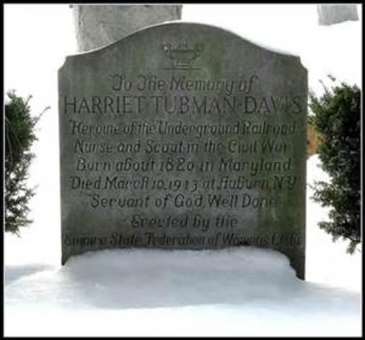 Harriet  Tubman's Death