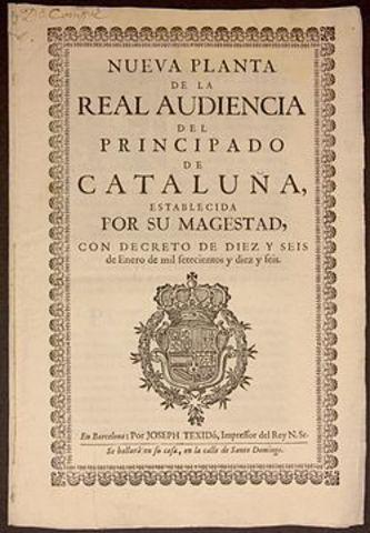 The Nueva Planta decrees