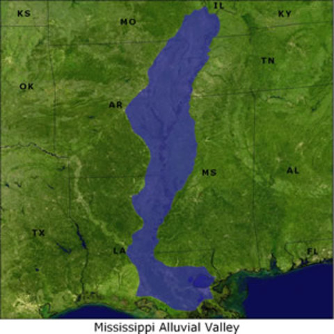 France claims Mississippi River Valley
