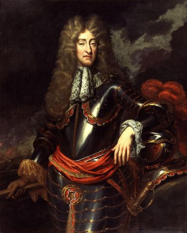 King James II takes throne