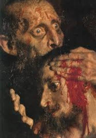 Date of when Ivan the terrible killed his own son