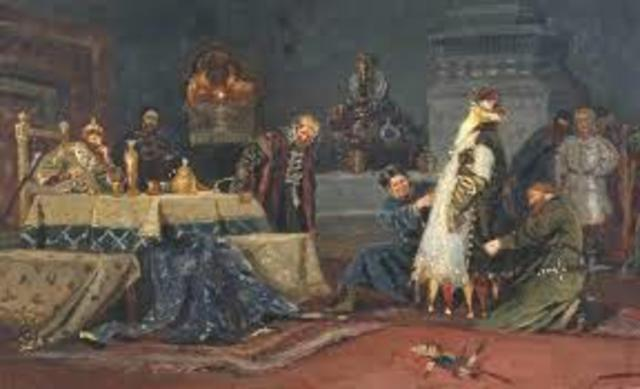 Ivan the terrible asked various princes and boyars to take an oath of loyalty